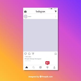 Szablon posta na instagramie z powiadomieniami