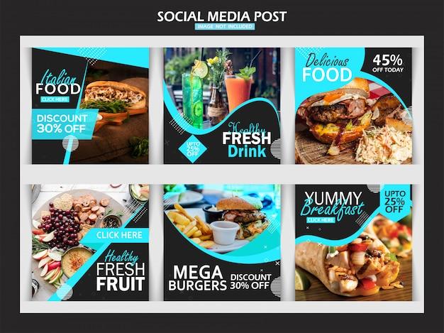 Szablon posta na instagramie żywności