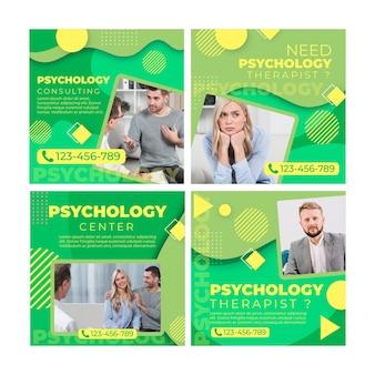 Szablon postów na instagramie psychologii