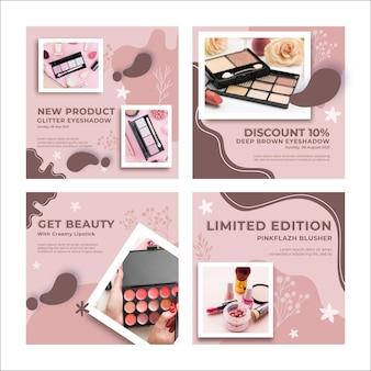 Szablon postów na instagramie z kosmetykami naturalnymi