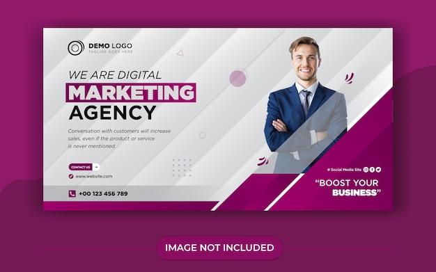Szablon postu banera w mediach społecznościowych marketingu cyfrowego