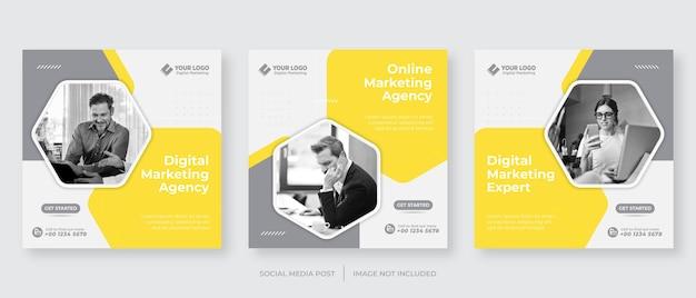 Szablon postu na instagramie agencji marketingu cyfrowego biznesu