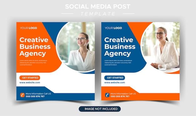 Szablon postu na instagramie kreatywnej agencji marketingowej