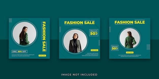 Szablon postu na instagramie sprzedaż mody