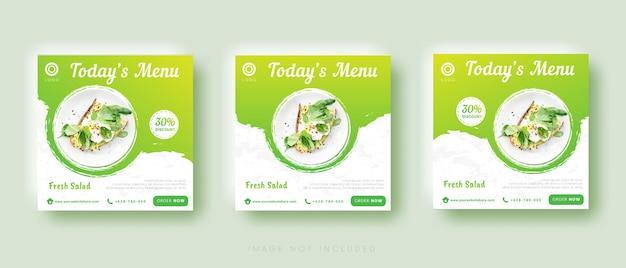 Szablon postu na instagramie sprzedaży żywności w mediach społecznościowych