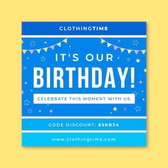 Szablon postu na instagramie urodziny siatki