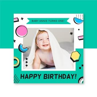 Szablon postu na instagramie urodziny