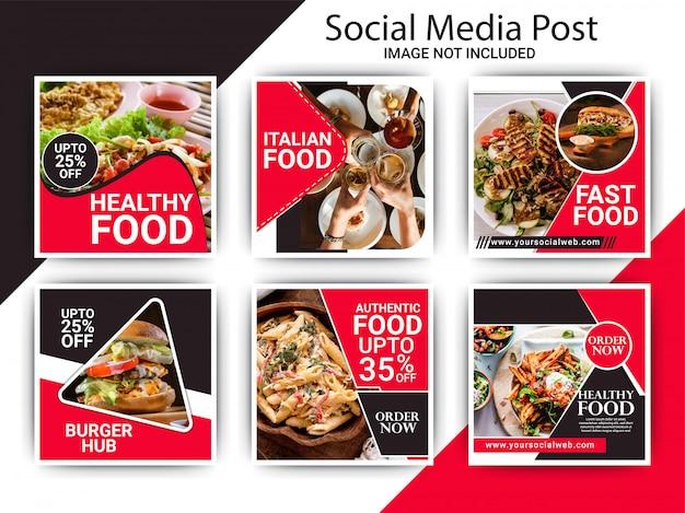 Szablon postu na instagramie żywności