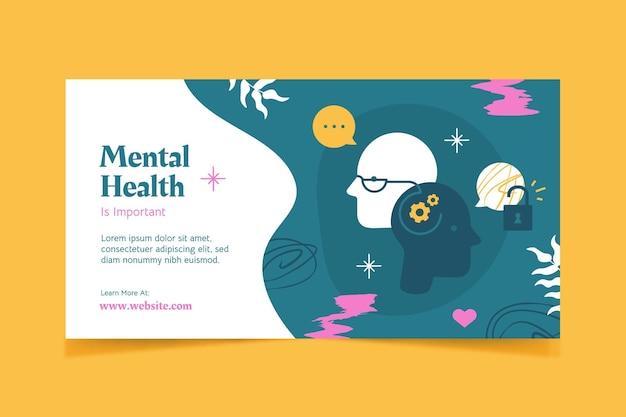 Szablon postu na temat zdrowia psychicznego w mediach społecznościowych