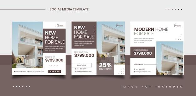 Szablon postu promocji sprzedaży nieruchomości w mediach społecznościowych
