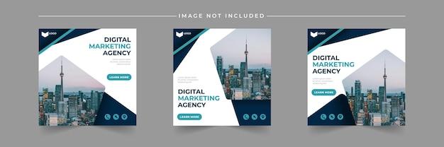 Szablon postu w mediach społecznościowych agencji marketingu cyfrowego biznesu