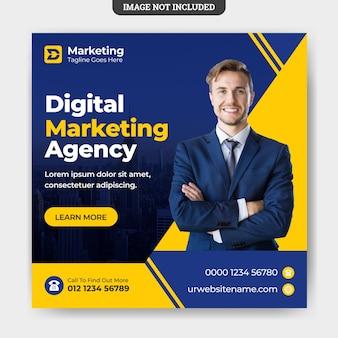 Szablon Postu W Mediach Społecznościowych Do Marketingu Cyfrowego Premium Wektorów
