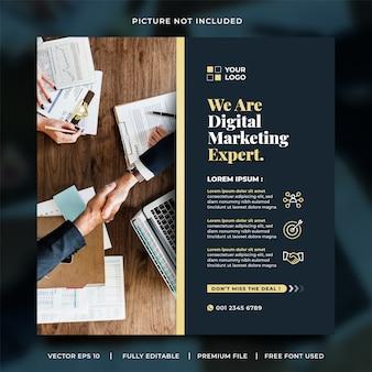 Szablon postu w mediach społecznościowych eksperta ds. marketingu cyfrowego