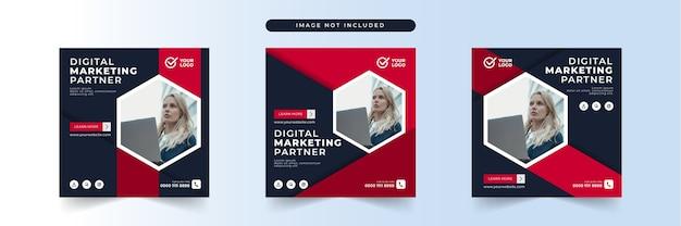 Szablon postu w mediach społecznościowych marketingu biznesowego