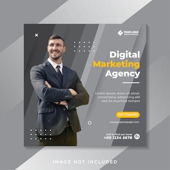 Szablon postu w mediach społecznościowych marketingu cyfrowego biznesu