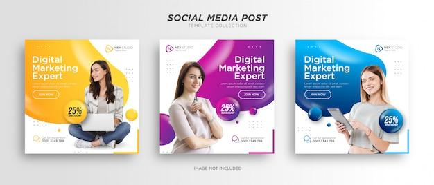 Szablon postu w mediach społecznościowych marketingu cyfrowego