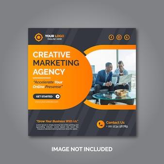 Szablon postu w mediach społecznościowych marketingu kreatywnego biznesu
