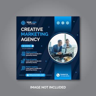 Szablon postu w mediach społecznościowych marketingu kreatywnego