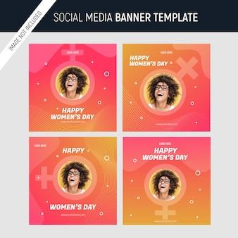 Szablon postu w mediach społecznościowych na dzień kobiet