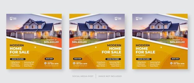Szablon postu w mediach społecznościowych nieruchomości