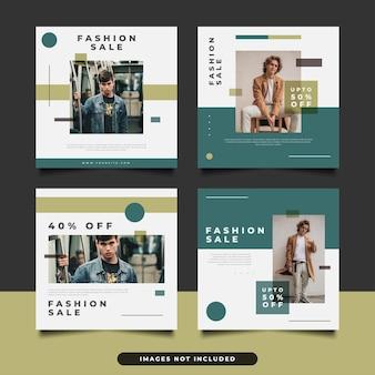 Szablon postu w mediach społecznościowych w minimalistycznym stylu do promocji mody.