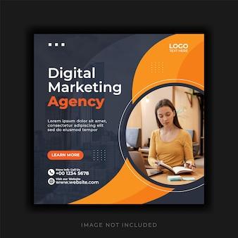Szablon postu w mediach społecznościowych z cyfrowym biznesem marketingowym