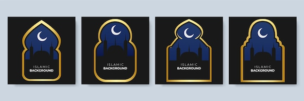 Szablon postu w mediach społecznościowych z motywem dekoracji islamskiej. arabesque ramadan sprzedaż mediów społecznościowych post szablon banery reklamowe. edytowalna ilustracja wektorowa