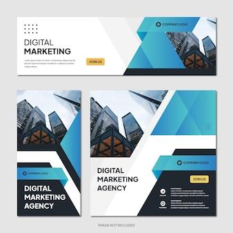 Szablon postu w mediach społecznościowych z promocją agencji marketingu cyfrowego
