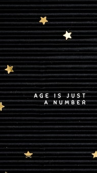 Szablon powitania urodzinowego online na czarnym tle