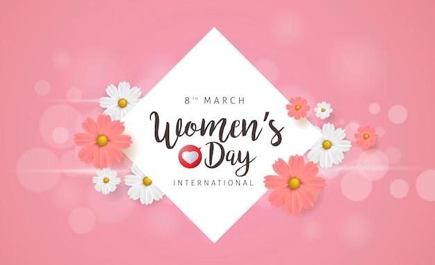 Szablon powitania z okazji dnia kobiet 8 marca.