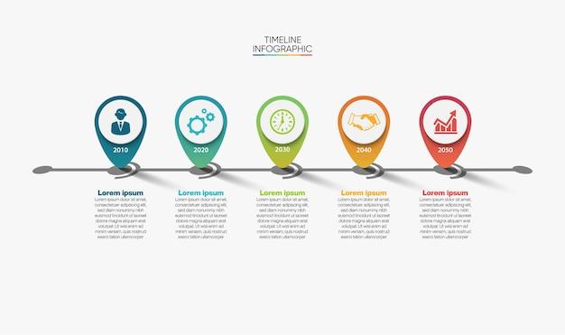 Szablon prezentacji biznesowej infografiki