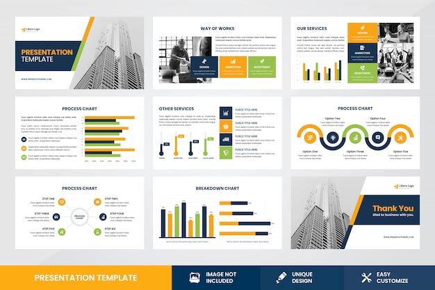 Szablon prezentacji biznesowych infographic element szablonu