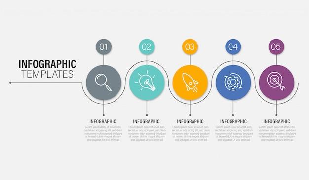 Szablon prezentacji biznesowych infographic z opcjami. ilustracja.