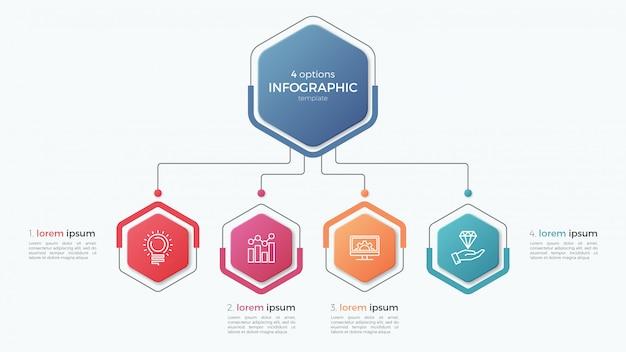 Szablon prezentacji biznesowych infographic z opcjami.
