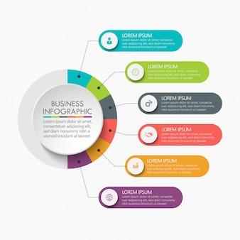 Szablon prezentacji biznesowych infographic.