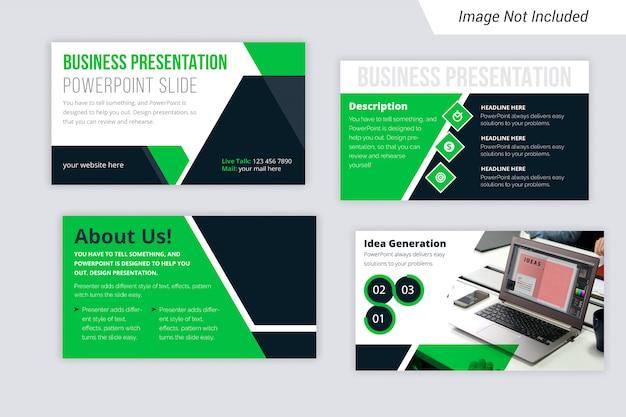 Szablon prezentacji biznesowych w kolorze gradientu