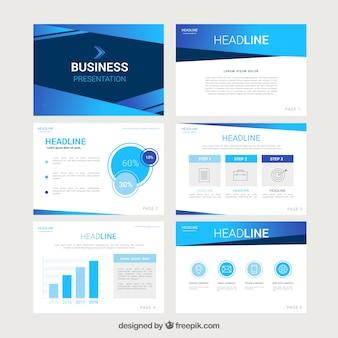 Szablon prezentacji biznesowych w stylu płaski