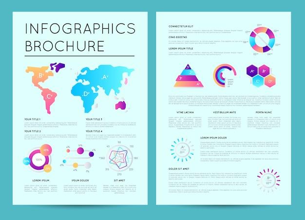 Szablon prezentacji biznesowych z infografiki