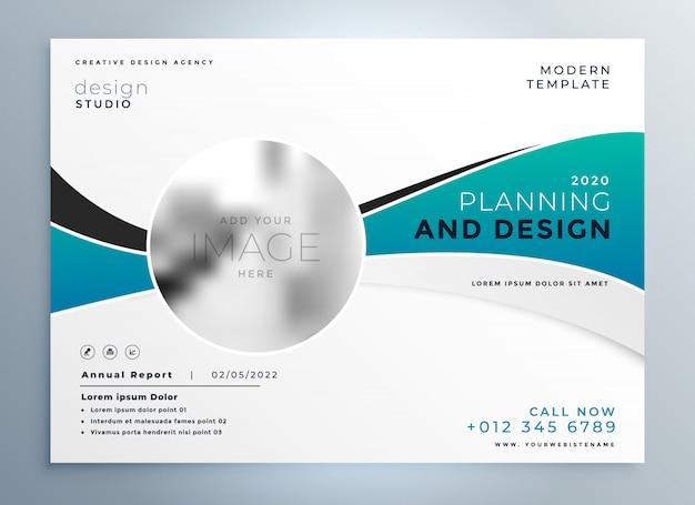 Szablon prezentacji broszura nowoczesny biznes okładka