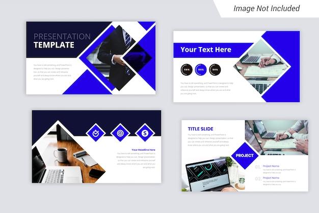 Szablon prezentacji firmy creative kolor niebieski firmy.