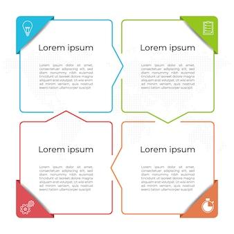 Szablon prezentacji infografiki 4 opcje.