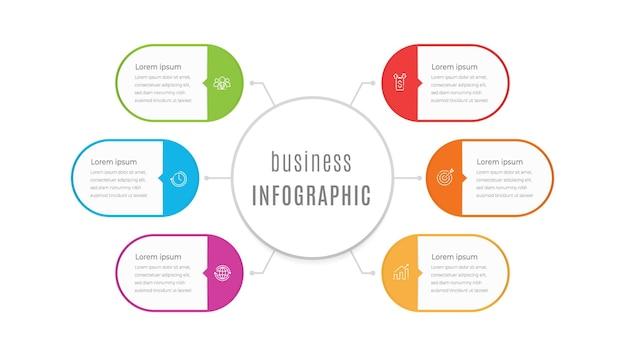 Szablon prezentacji infografiki 6 opcji