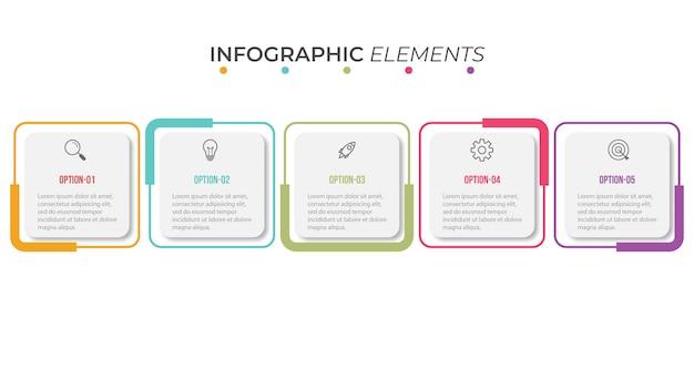 Szablon prezentacji infographic