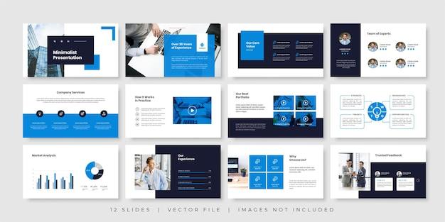 Szablon prezentacji minimalnych slajdów biznesowych