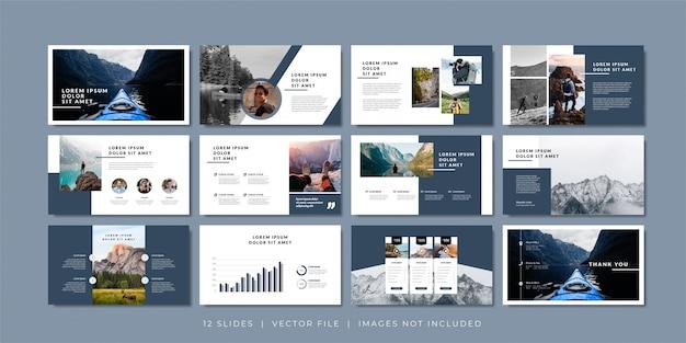 Szablon prezentacji minimalnych slajdów.