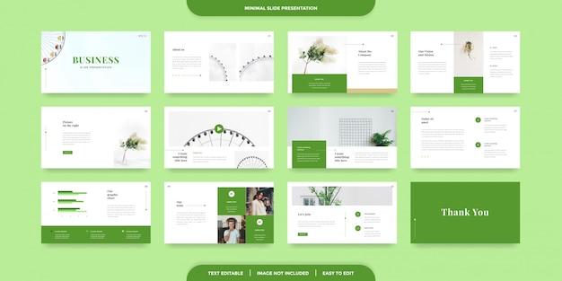 Szablon prezentacji minimalnych slajdów