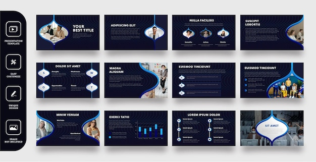 Szablon prezentacji nowoczesnych slajdów firmy