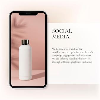 Szablon prezentacji platformy firmowej kobiecy post w mediach społecznościowych