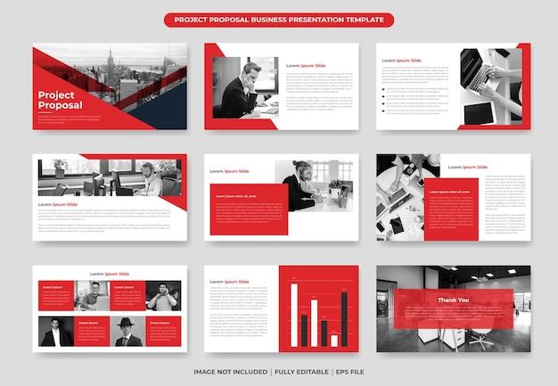 Szablon prezentacji propozycji projektu projekt i elementy roczne sprawozdanie i broszura firmowa