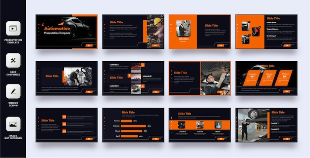 Szablon prezentacji slajdów biznesowych motoryzacyjnych